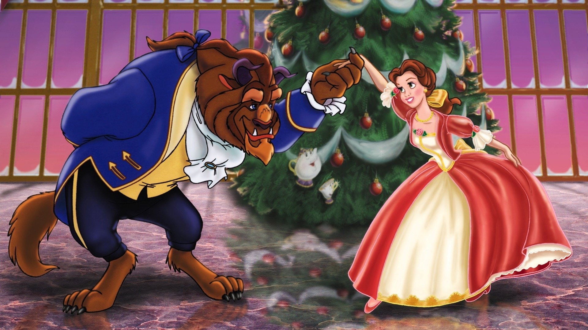 Image result for beauty and the beast enchanted christmas
